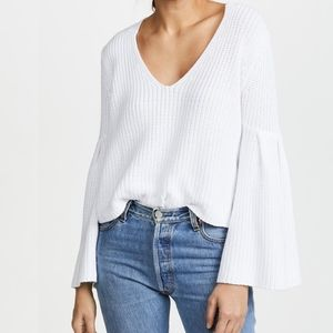 Free People | White Bell Sleeve Sweater